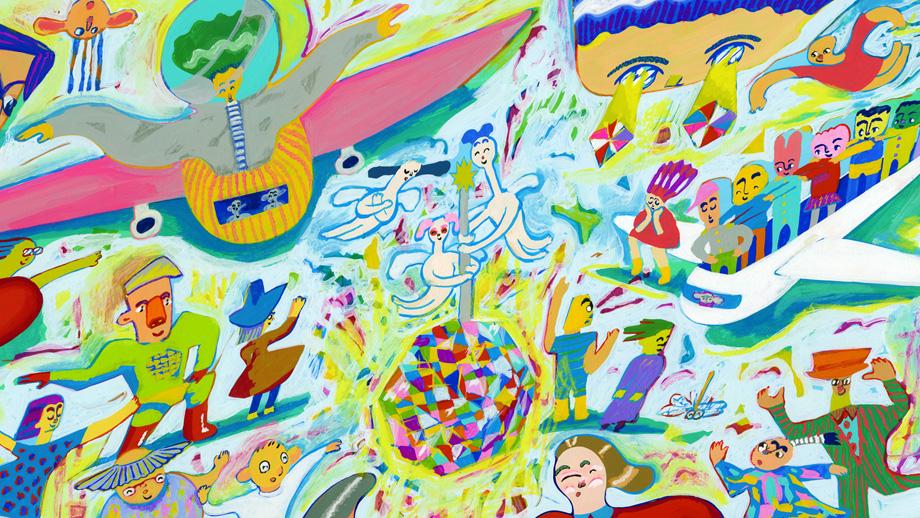 イラストは、アニメーション&うたのおにいさん!アーティスト姫田真武さん。
