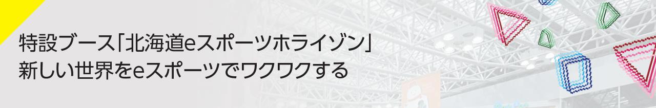 特設ブース「eスポーツクロス北海道」e SPORTS-X 2020年 新しい世界をeスポーツでワクワクする。